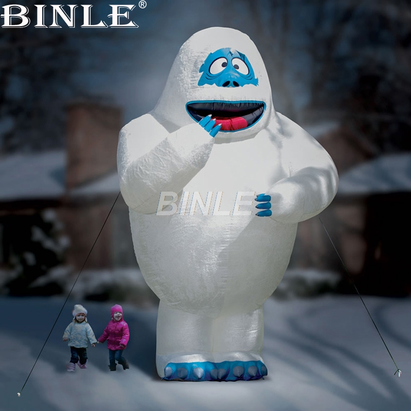 Hot sale large airblown bumble the abominable snowman inflatable giant inflatable snowman monster for advertising free shipping stock giant inflatable snowman outdoor advertising inflatable christmas decoration