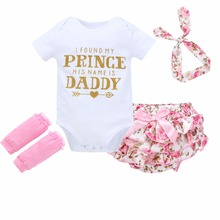 summer  baby girls first walker o-neck novelty 4pcs suit sleeveless floral fashion romper