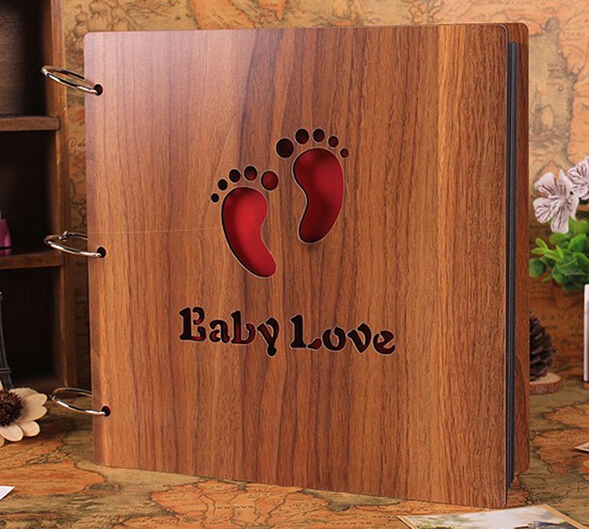 Aliexpress.com : Buy 12 Inch 30 Pages Natural Wooden DIY Photo ...