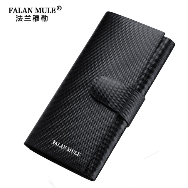 FALAN MULE 2016 Famous Brand Mens Genuine Leather Wallets Money Bag Fashion Long Wallet Men Card Holder Male Clutch Men Wallet