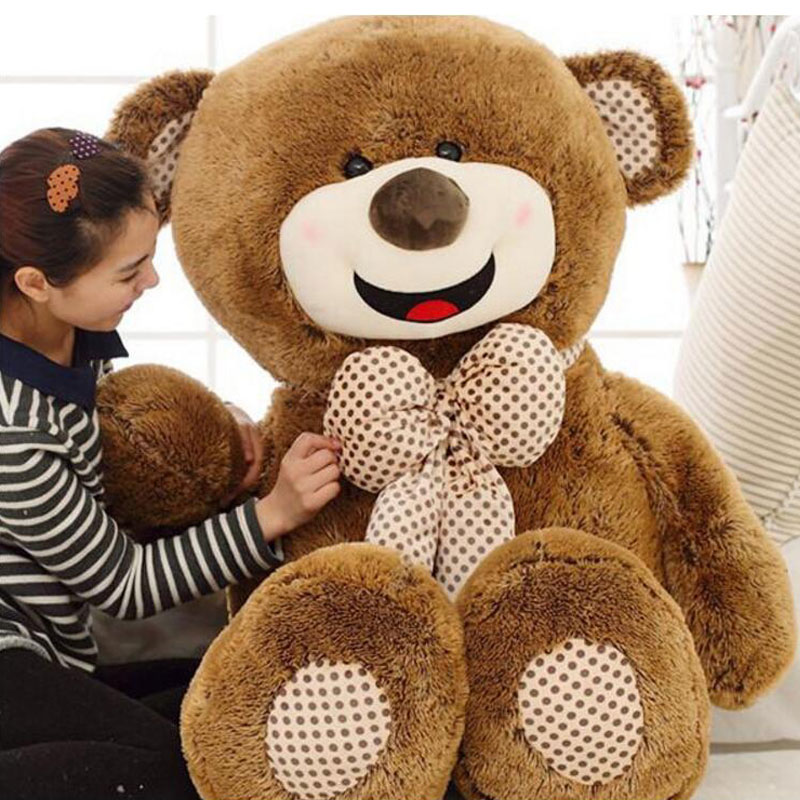 160cm Teddy Bear Big Huge Lovely Giant Teddy Bears Stuffed Animal Plush Toy Gift Plush Ted  Juguetes For Valentine's Day Gift giant teddy bear soft toy 160cm large big stuffed toys animals plush life size kid baby dolls lover toy valentine gift lovely