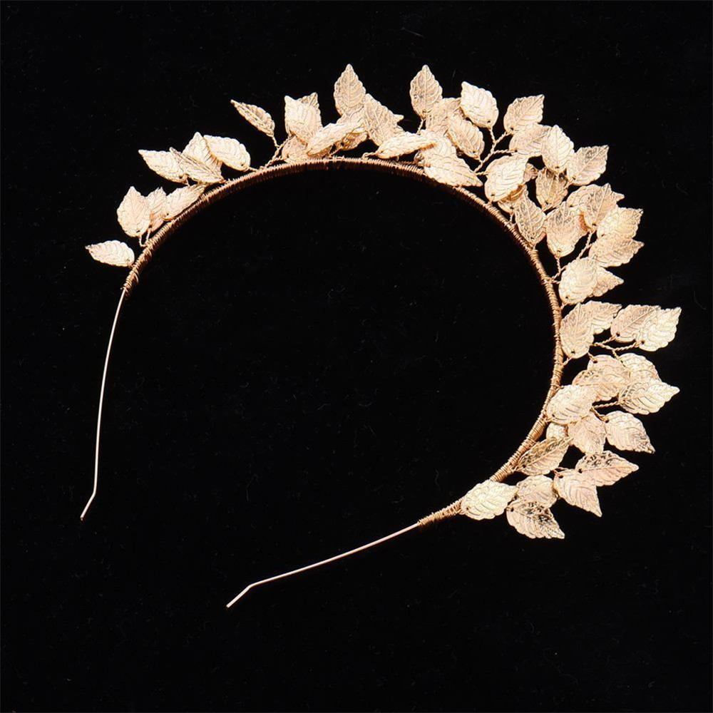 Fashion Bride Headdress Baroque Leaf Crown Delicate Hair Hoop Headwe Ve Haarschmuck Kleidung & Accessoires