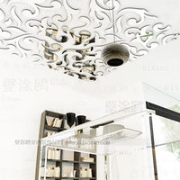 Hot Fashion Europe ceiling mirror paper mirror stickers Tile stickers 3d wall stickers