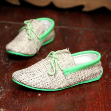 spring and summer new men's leisure breathable weaving British Peas shoes fashion sleeves lazy shoes