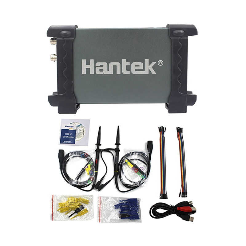 Hantek 6022BL PC USB Oscilloscope Digital Portable 2 Channels 20MHz Bandwidth 48MSa/s Sample Rate 16 Channels Logic Analyzer digital usb oscilloscopes 20mhz hantek 6022bl shipping russia portablepc 16channels logic analyzer car detector 2channels