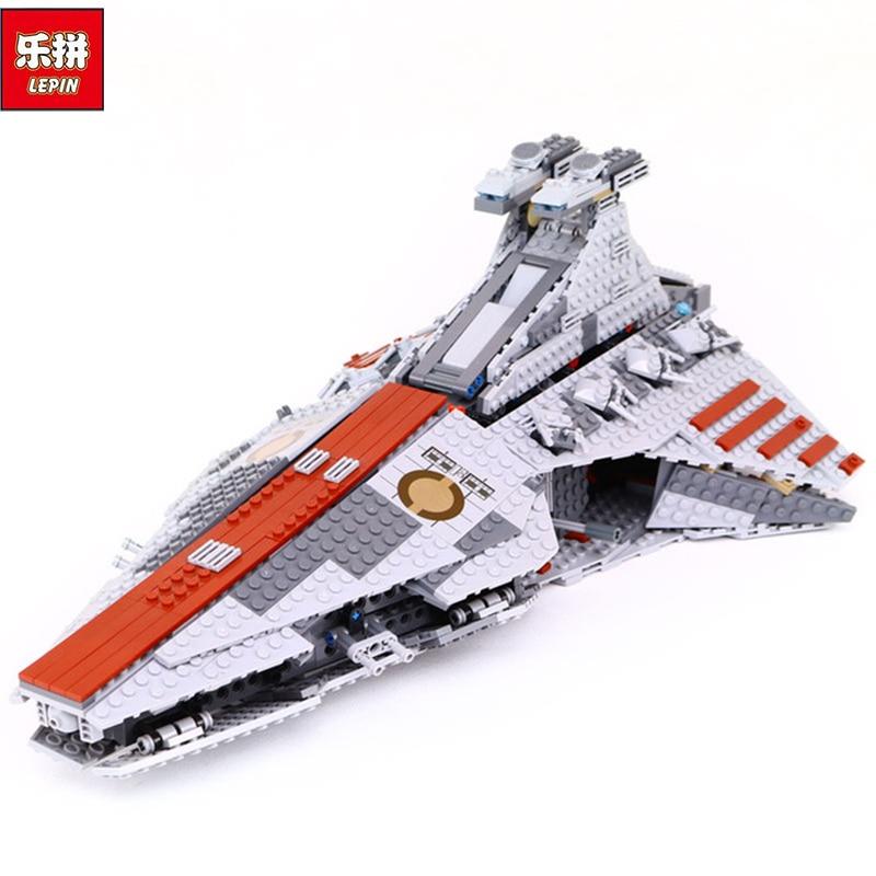 Фотография Lepin 05042 Star War Series The Republic Fighting Cruiser Set Building Blocks Bricks Educational Children Day