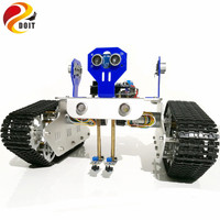 Official DOIT 2 Way Tracking 3 Way Obstacle Avoidance Remote Control Robot Tank Car Chassis With