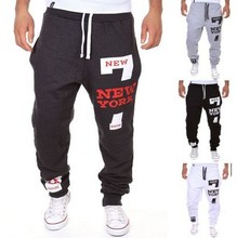 Mens Joggers Hosen 2016 Marke Männlichen Cargo Pants Schlank Buchstaben Gedruckt Strumpfhosen Hosen Compression Männer Jogger