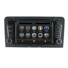For 2 Din 7 inch Audi A3 car central multimedia GPS with Radio/Bluetooth/3G/SWC/DVD/VCD/CD/CD-R/6 CD virtua/Canbus/Optional RDS