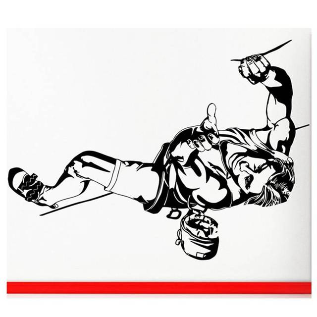 climbing sticker climbers decal extreme sports posters vinyl wall