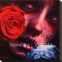 Pinturas mulher com flor rosa arte moderna abstrata Amor Eterno por Daniel Esparza 100% artesanal de Alta qualidade
