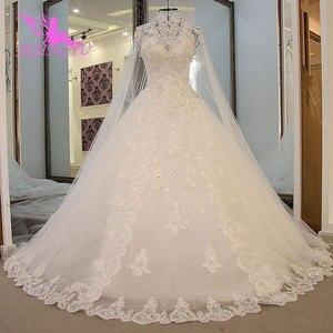 Image 1 - AIJINGYU Moederschap Trouwjurken Vintage Gown Nieuwe Bridal Boho Chic Dragen Avondjurken Vintage Trouwjurk Met Mouwen