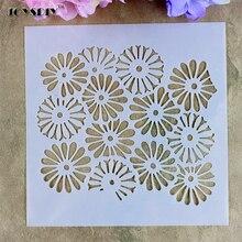 Flower Petals Background Scrapbooking tool Masking spray card DIY album painted Walls Painting  laser Cut drawing stencils