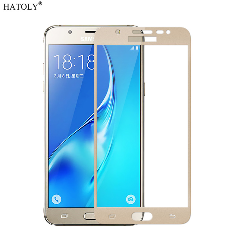 Screen Protector Glass For Samsung Galaxy J7 Neo 2.5D Anti-Burst Tempered Glass For Samsung Galaxy J7 Neo Full Glass J7 Neo }