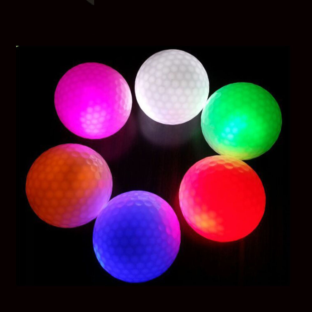 9pcs/lot  LED Golf Balls Night Training