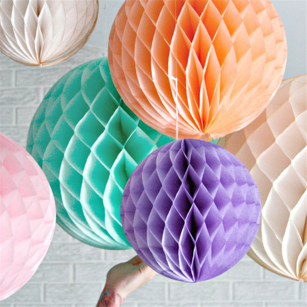 1 unids / lote 15 CM navidad Honeycomb Balls decoraciones de la - Para fiestas y celebraciones - foto 3