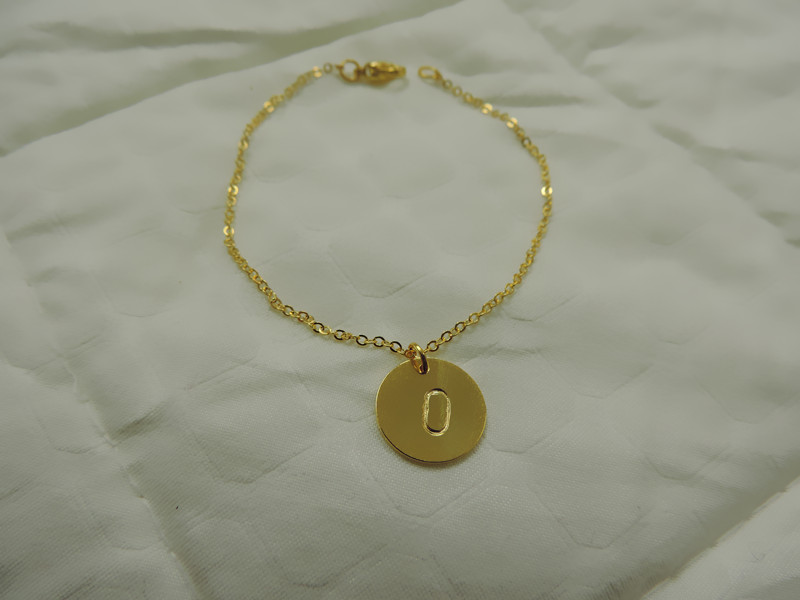 anklet bracelet simple chain bead dainty product gold delicate detail satellite