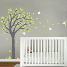 Large Tree Vinyl Nursery Tree Wall Sticker Mural Adhesive Decoration Maison Wall Decals Wall Stickers for Kids Rooms Home Decor