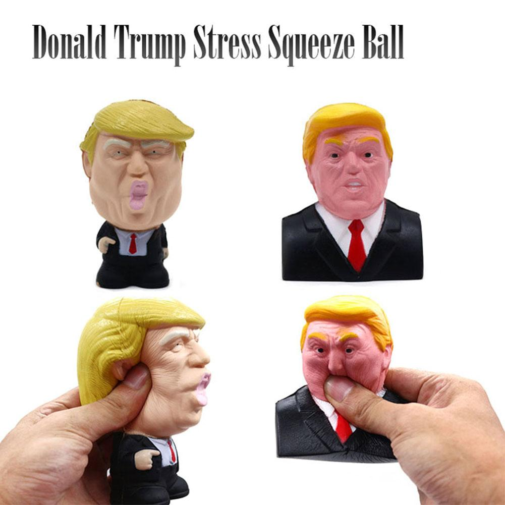 Donald Trump Stress Squeeze Ball Jumbo Squishy Toy Cool Novelty Pressure ReliefKids Doll Decor Squeeze Fun Joke Props Gift