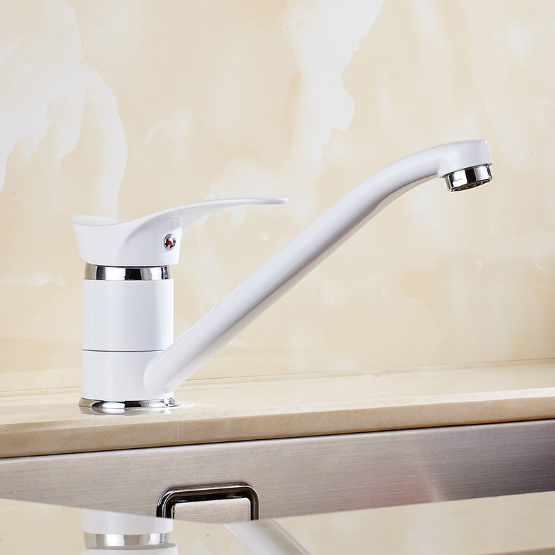 white painted faucet brass kitchen faucet kitchen sink tap 360 rotating kitchen sink mixerchina - White Kitchen Sink Taps