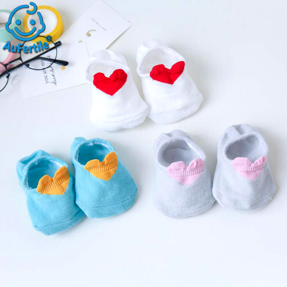Three Pairs Big Eyes Child Sock Cotton Lovely Socks, Baby Spring and Summer Shallow Mouth Silica Gel Non-slip Invisible Socks