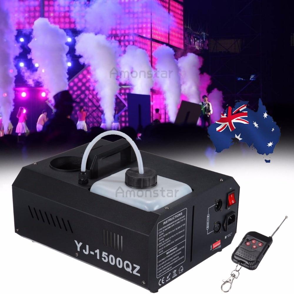 (Shipping From AU) 1500W Vertical Fogger UpSpray Smoke Fog Machine with Remote Control DMX