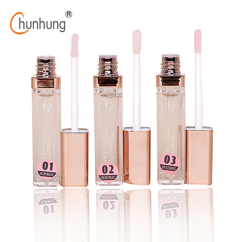 Matte Lip Gloss Long Lasting Waterproof Lipquid Lipsticks Moisturizer Nutritious Lip Gloss Pink Lip Tint Lipgloss 3 Color Lips