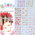 HOTSALE 50 hoja/LOT de San Valentín Serie etiqueta Del agua Del Clavo Del Tatuaje Encantador DEL ARTE DEL CLAVO ETIQUETA ENGOMADA DEL CLAVO TATUAJES ETIQUETA de empaquetado individualmente