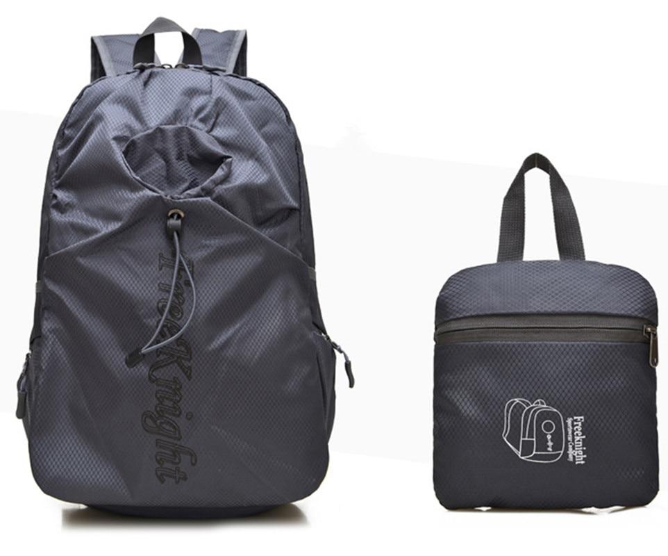 Men Women Travel Casual School Foldable Backpack Portable Light ...