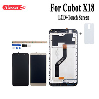 Alesser For Cubot X18 LCD Display+Touch Screen With Frame Assembly Repair Parts Replacement Mobile Phone Accessory +Tools +Case