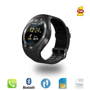 Image 2 - Bluetooth Smart Watch Phone Mate Round Screen Smartphone SIM Call Dial Pedometer Smartwatch for Android IOS reloj inteligente