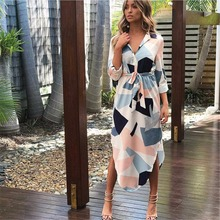 Autumn Women Dress Irregular Geommetrical Party Dress Sexy Casual Street Wear Summer Long Female Deep V Neck Slim Fit Vestidos