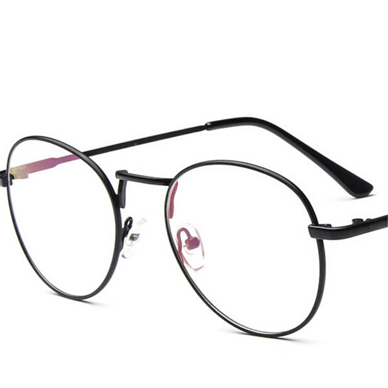 women Vintage Round Glasses metal frame gafas De Sol Spectacle Plain ...