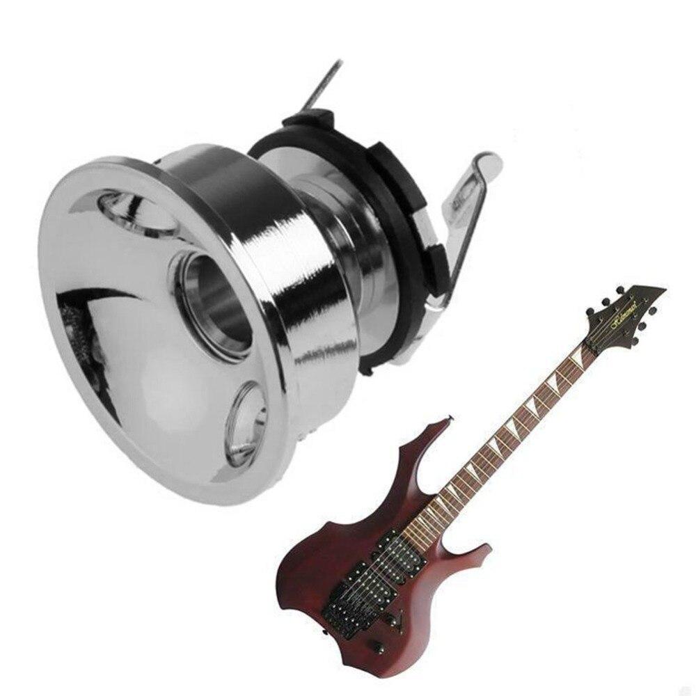 Electric Guitar Chrome Socket Output Jack Plate Holder Screws For 6.35mm Plug niko 50pcs chrome single coil pickup screws