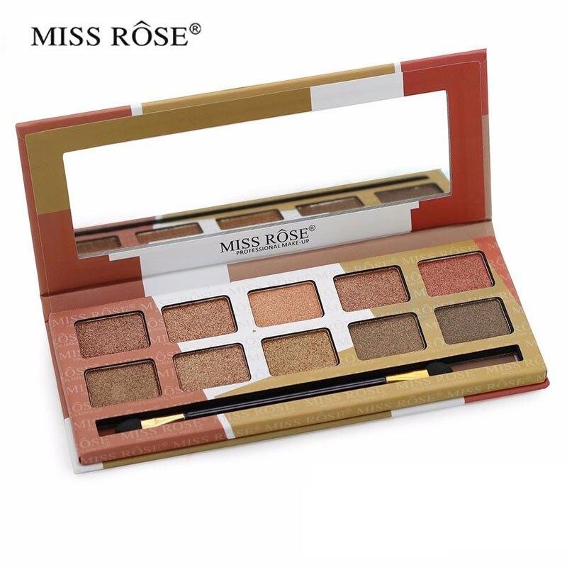 Miss rose smoky shimmer & matte eyeshadow palette Fácil de usar - Maquillaje