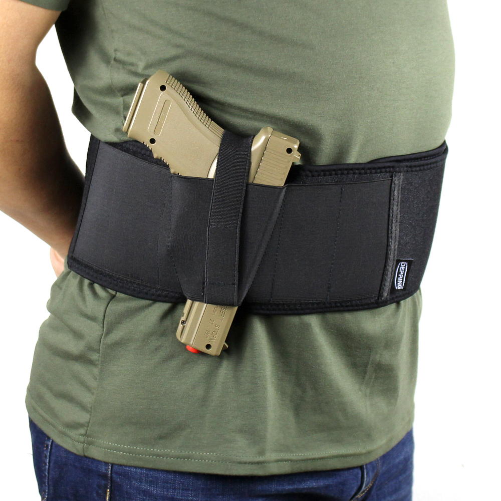 Pohodlné pouzdro Belly Band pro podomítkové pouzdro s retenčním popruhem a magnetickým pouzdrem se hodí pro kompaktní subkompaktní střední velkou pistoli