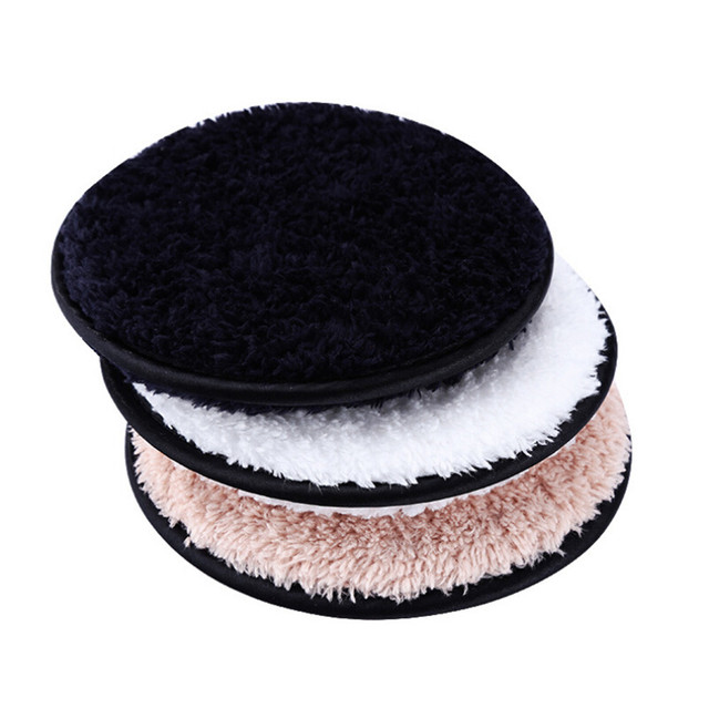 Make up remover promotes healthy skin  Microfiber Cloth Pads Remover Towel Face Cleansing Makeup Lazy cleansing powder puff X245