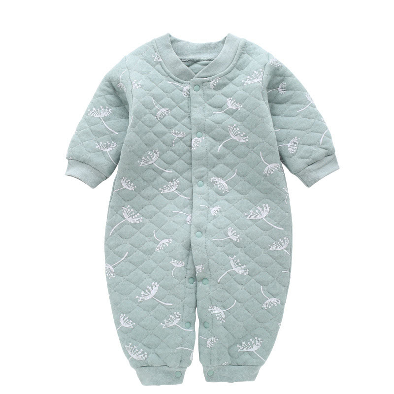 Baby Autumn Onesies Newborn Cotton Clothes Men and Women Long-sleeved Romper Warmth