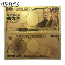 Gold 7777777 Japan Banknotes Plated 10.000 Yen, 24k Banknote 10pcs/lot Collection Notes
