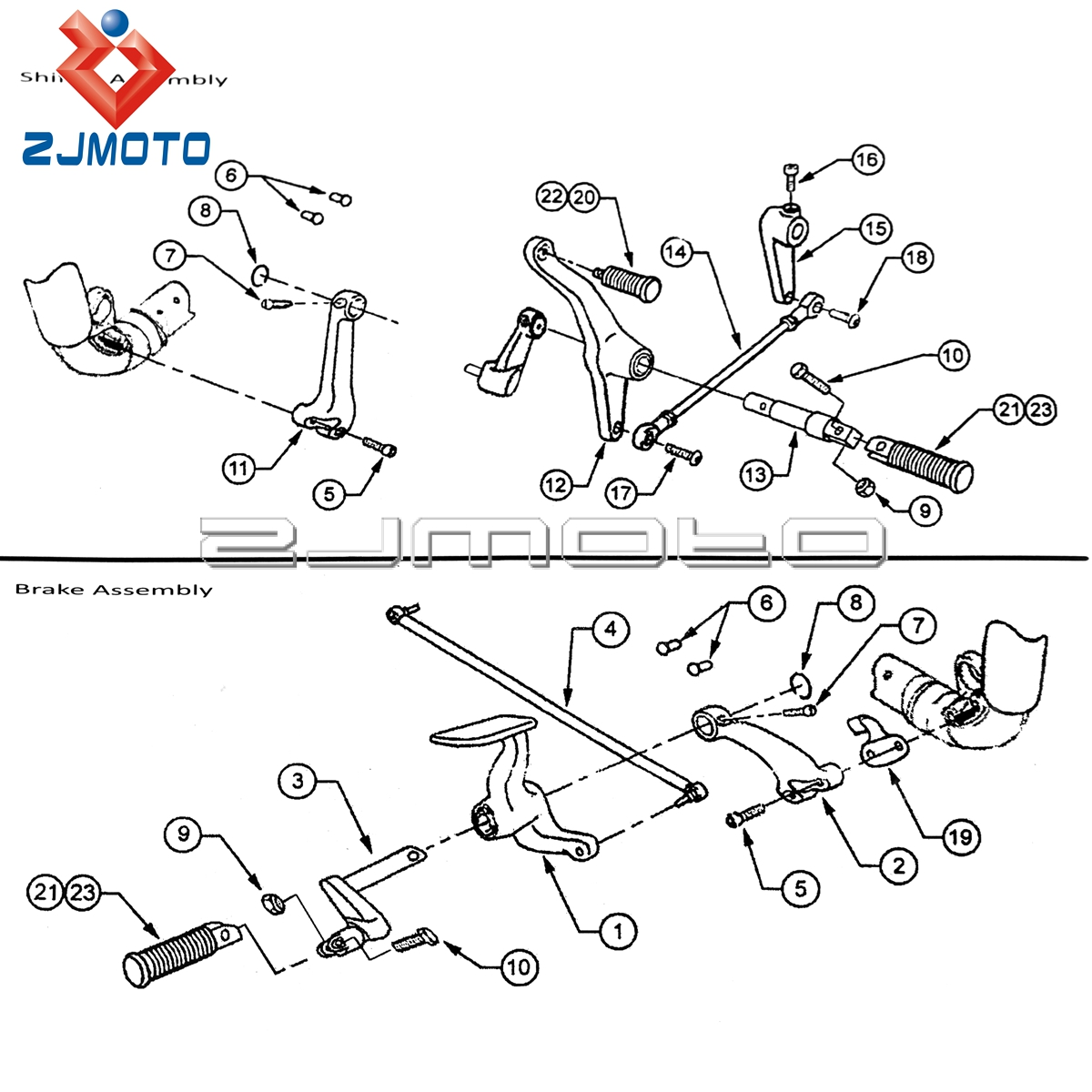 Zjmoto for sportster 883 iron xl883n super low xl883l 2014 2017 supermoto footpeg steel forward controls kit in foot rests from automobiles motorcycles on
