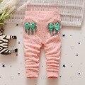 Fashion Autumn Baby Kids Children Roupas Girls Infants Princess Long Pants Bow Dot Polka Skinny Slim Leggings Trousers  S3634