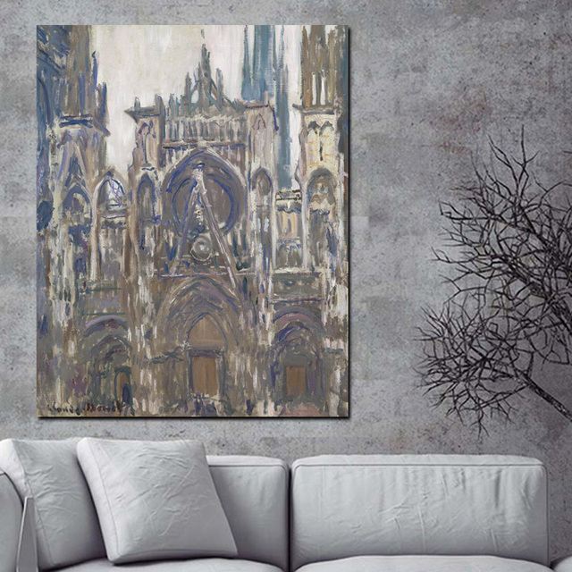 Hd print claude monet notre dame de paris landscape oil painting on canvas art poster impressionist
