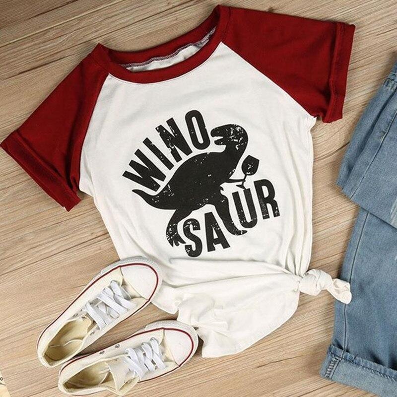 Winosaur Funny Cotton T-Shirt S-3XL Gift Present Wine Drinker Dinosaur T-Rex