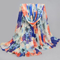 Luxury Brand Scarf Women 2016 Fashion Spring Antumn Print Flower echarpes foulards Chiffon Silk Scarfs Women Shawls Scarves