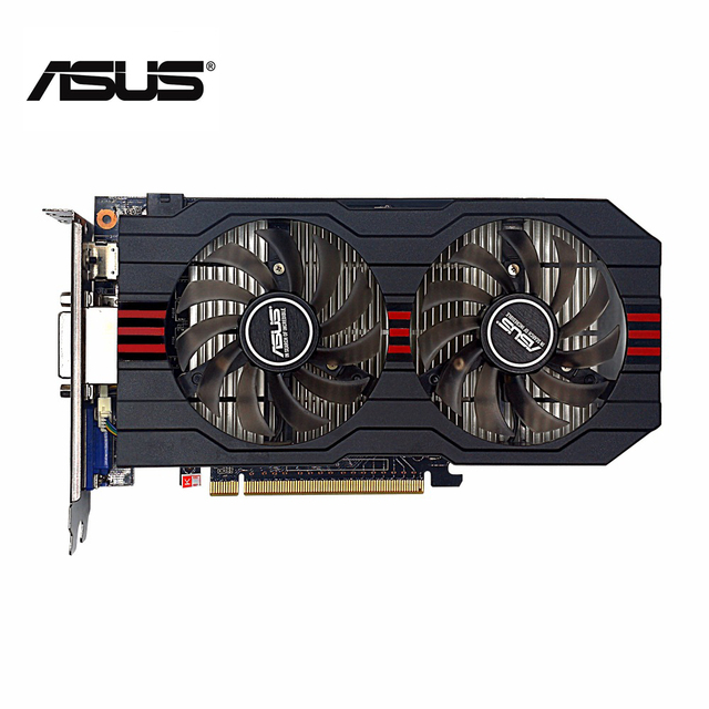 Используется, оригинальный ASUS GTX 750TI 2 г GDDR5 128bit видео игр Графика карты, хорошем состоянии, 100% тестирование хорошо!