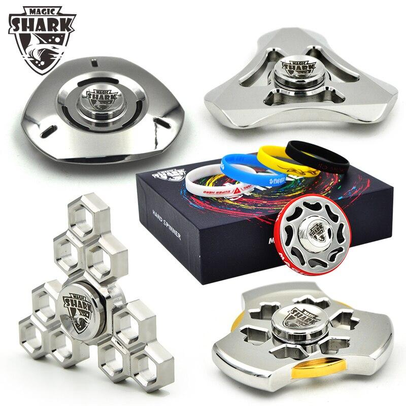 2017 New Magic Shark fidget spinner Ufo Iron best hot selling Metal Stainless 304 Spinner hand