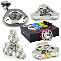 Magic Shark UFO Ultra Long Time Rotation Fidget Spinner Stainless Steel Spinner Hand Metal EDC Soul