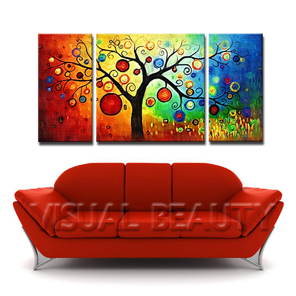 3 Panel Canvas Art With Easy Tree Painting Oil Print Unframed In Calligraphy From Home Garden On Aliexpress Alibaba