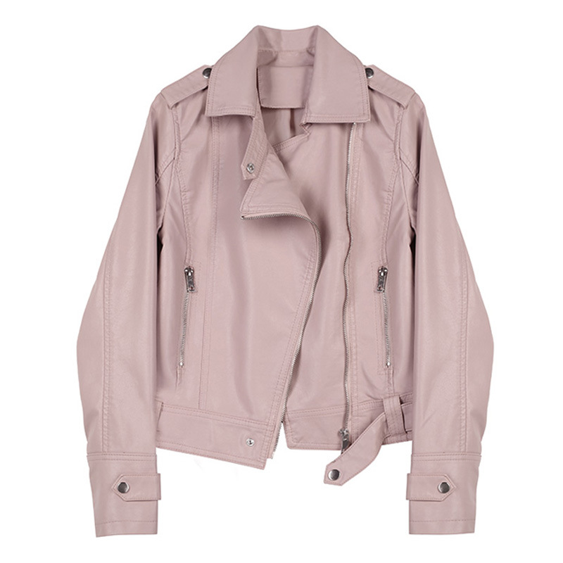 WSYORE PU   Leather   Coat 2019 New Spring and Autumn Women Casual Short Ladies Motorcycle Jacket Slim Faux   Leather   Jackets NS1047