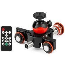 Новая камера видео трек Долли моторизованный Электрический ползунок мотор Долли грузовик для Nikon Canon Dslr камера Dv фильм Vlogging шестерни